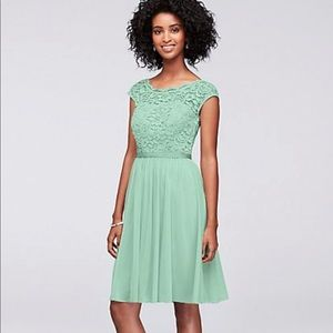 Mint bridesmaid or prom dress! Worn once, size 8